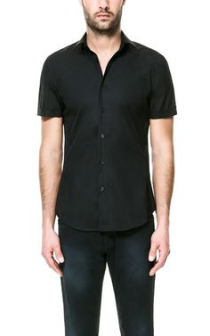 e61c9f0d7 Short Sleeve Stretch Shirt in black from Zara (Canada) $59.90. Ref. 4235