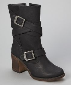 Look at this #zulilyfind! Black Persuade Boot by Dollhouse #zulilyfinds