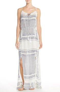 Elan Tile Print Maxi Dress available at #Nordstrom