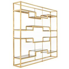 Freestanding Italian room divider / shelving system attributed to Romeo Rega