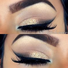 white and gold smokey eye - Google Search