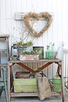 What about a rustic heart like this for the hallway baba?