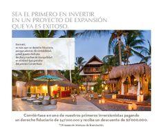 """""""Sea el primero en invertir en un proyecto de expansión que ya es exitoso"""" #Karmairi #Hotel #Spa"""