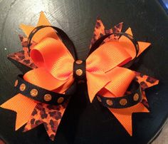 Halloween Hair Bow Clip Halloween Layered by TatteredHankie Bow Clip, Bow Hair Clips, Halloween Hair Bows, Baby Hair Bows, Toddler Halloween, Girls Bows, Infant, Trending Outfits, Unique Jewelry