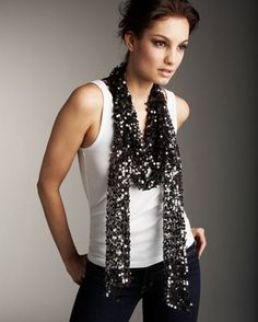 Sequin scarf! By Marc Jacobs