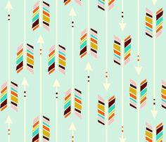 Arrows for Anna fabric by nadiahassan on Spoonflower - custom fabric