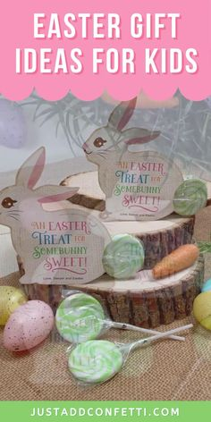 Get ready for Easter with this cute Easter Bunny Lollipop Gift Idea. The printable is available in my Just Add Confetti Etsy Shop. Just print the Easter bunny printable card and attach a lollipop for the bunny tail! Such a fun Easter gift idea for kids, classmates, family or friends. Also, these bunnies would be a perfect addition to any Easter basket for kids. An adorable Easter gift in minutes! Be sure to head to justaddconfetti.com for even more Easter decorations, gift ideas and crafts.