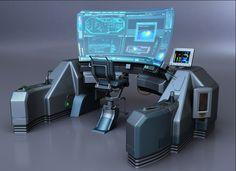Sci Fi Control Center