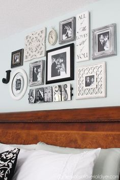 Building a gallery wall with things you love. #PhotoWall