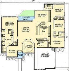 Split-Bedroom Design with Lots of Windows - 31004D | 1st Floor Master Suite, Butler Walk-in Pantry, CAD Available, Corner Lot, Den-Office-Library-Study, European, Jack & Jill Bath, PDF, Traditional | Architectural Designs