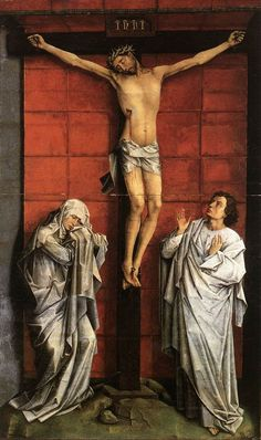Christus on the Cross with Mary and St John by WEYDEN, Rogier van der #art