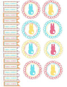 Spring and Easter cupcake wrappers and toppers