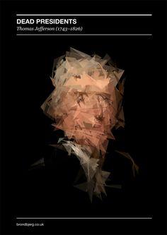 Dead Presidents - Generative Portraits by Mike Brondbjerg, via Behance