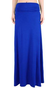 LQ Women's High Waisted Fold Over Maxi Skirt (Royal Blue, Medium) LeggingsQueen http://www.amazon.com/dp/B00CQ3DM36/ref=cm_sw_r_pi_dp_QRzTtb1VZC959RJP
