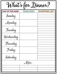 How To Meal Plan The Easy Way  Weekly Meal Planner Weekly Meals