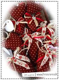 Resultado de imagen para addobbi natalizi in stoffa