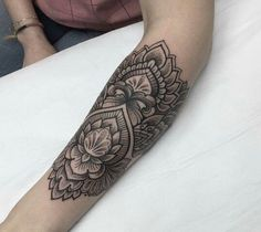 Lotus Mandala Pattern Tattoo.