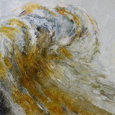 Cambridge-based visual artist Lia Melia creates strikingly energetic paintings where curling and crashing ocean waves splash and splatter across the canvas