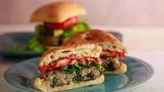 Greek Feta & Spinach Burgers Recipe