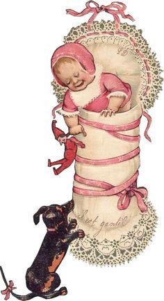 Scraps - Victorian Die Cut - Victorian Scrap - Tube Victorienne - Glansbilleder - Plaatjes: Toddlers and Baby