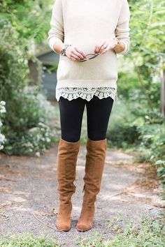 This sweater is on my must-have list! Such a great outfit | ONE little MOMMA