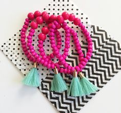 Beach Party tassel bracelet