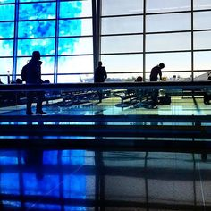 Airport aesthetics  #travel #indiana #indianapolis #indy #fly #airport #vacation #art #light #silhouette #reflections #travelgram