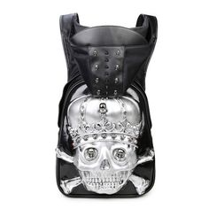 looking for something new? how about 3D Silver Skull B... get it here http://100percenthood.biz/products/3d-silver-skull-backpack-with-hood-cap?utm_campaign=social_autopilot&utm_source=pin&utm_medium=pin