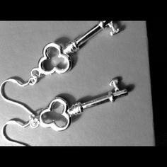"Selling this ""925 STERLING SILVER KEY EARRINGS"" in my Poshmark closet! My username is: babydolljewels. #shopmycloset #poshmark #fashion #shopping #style #forsale #Jewelry"