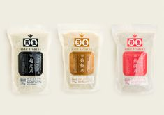 fivemetalshop.com - Mao Rice Rice Packaging, Cookie Packaging, Food Packaging Design, Branding Design, Asian Design, Japanese Design, Rice Brands, Meat Delivery, Metal Shop