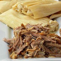 Pork for Tamales Beef Tamales, Homemade Tamales, Mexican Tamales, Homemade Tortillas, Mexican Dishes, Mexican Food Recipes, Ethnic Recipes, Mexican Cooking, Quesadilla