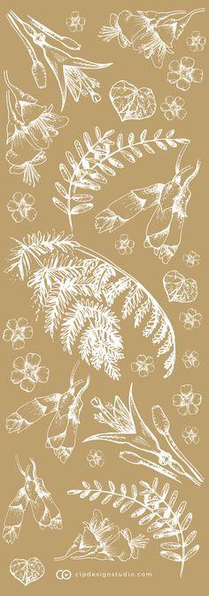 New Zealand native pattern design