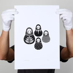 Babushka Doll Illustrations by Bron Alexander, via Behance // <3