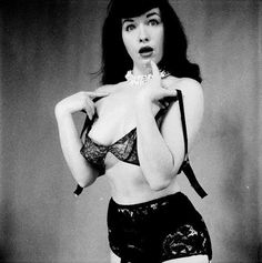 """Bettie Page ~ """"The"""" classic pin-up babe, Queen of the pin-ups, if you will."""