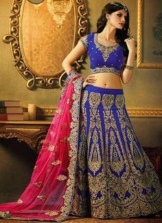 Fashion: Embellished Wedding Wear 2015 Lehenga Choli and Saris for Girls