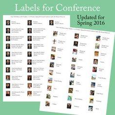 Etiquetas imprimibles para la Conferencia General 2016