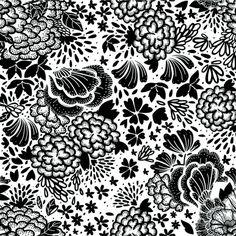 Be Diff - Estampas florais | Flores_preto by luizasequeira