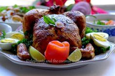 elephants and the coconut trees: Whole Roasted Chicken- Kerala Style with step by step pictures / Whole Roasted Chicken in spicy Indian masala with less oil/ Christmas Special Menu