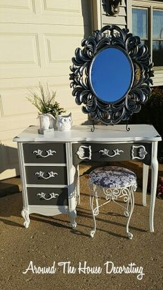 Just finished this gorgeous French Provincial Vanity Set.