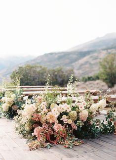 Floral Wedding, Wedding Flowers, Wedding Pins, Fall Flowers, Blue Sky Photography, Greenhouse Wedding, Rose Arrangements, Floral Arch, Martha Stewart Weddings