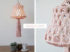 PLUMEN X WATG Macramé lamp Shade Kit. Available at plumen.com.