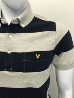BRAND NEW #LYLE&SCOTT Mens #PoloShirt Small #SLIM FIT Navy #Striped #CHEAP #DESIGNER #FASHION #MENSWEAR #MENSTYLE #MACMENSWEAR #MENSCLOTHING