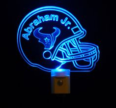 Personalized #HoustonTexans Football Night Light or your favorite team Logo By Unique LED Products