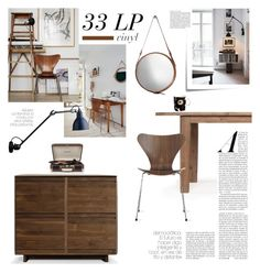 """33 LP"" by barngirl ❤ liked on Polyvore featuring interior, interiors, interior design, home, home decor, interior decorating, Jamie Young, Post-It, Symbol Audio and Home Decorators Collection"