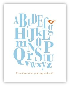 Free Alphabet Printable (other colour combos available) from www.akadesign.ca
