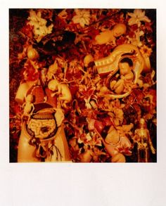 Kurt Cobain loved to take polaroids and here's one of the 'In Utero' collage, which Kurt created for the album cover.