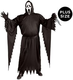 Sparking Ghost Face Adult Costume Plus. Delightful ideas of Spooky & Horror Cost Ghost Bride Costume, Ghost Costumes, Ghost Face Mask, Tween Costumes, Captain Costume, Spooky Halloween Costumes, Girls Black Dress, Ghost Faces, Dc Super Hero Girls
