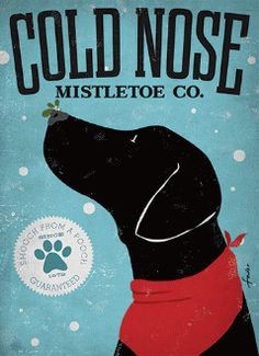 "Black Labrador Christmas Cards ""Cold Nose Mistletoe Co."" Box of 8 Cards Black Labs, Black Labrador, I Love Dogs, Puppy Love, Christmas Cards, Holiday Cards, Christmas Dog, Dogs And Puppies, Doggies"