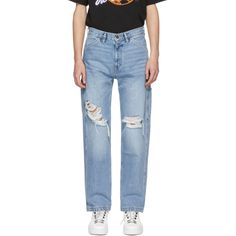 Off-White - Blue Levi's Made & Crafted Edition Carpenter Jeans Jeans Pants, Mom Jeans, Off White Clothing, Carpenter, Street Wear, Style Inspiration, Denim, Blue, Fashion Design