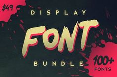 Display Font Bundle Fonts Please check the individual product pages for more info on the fonts. The total cost of the bundle by Tugcu Design Co. Pretty Fonts, Beautiful Fonts, Cool Fonts, Awesome Fonts, Business Brochure, Business Card Logo, Photoshop Fonts, Texture Web, Title Font